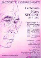 Conférence-hommage à Pierre Segond