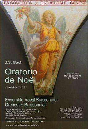 Oratorio de Noël 2015 – Ensemble vocal Buissonnier – Orchestre Buissonnier
